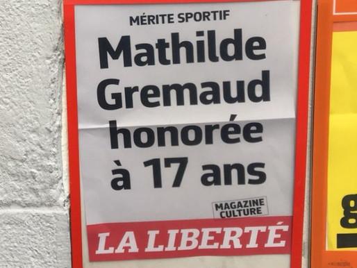Mathilde Gremaud mérite sportif fribourgeois de l'année.