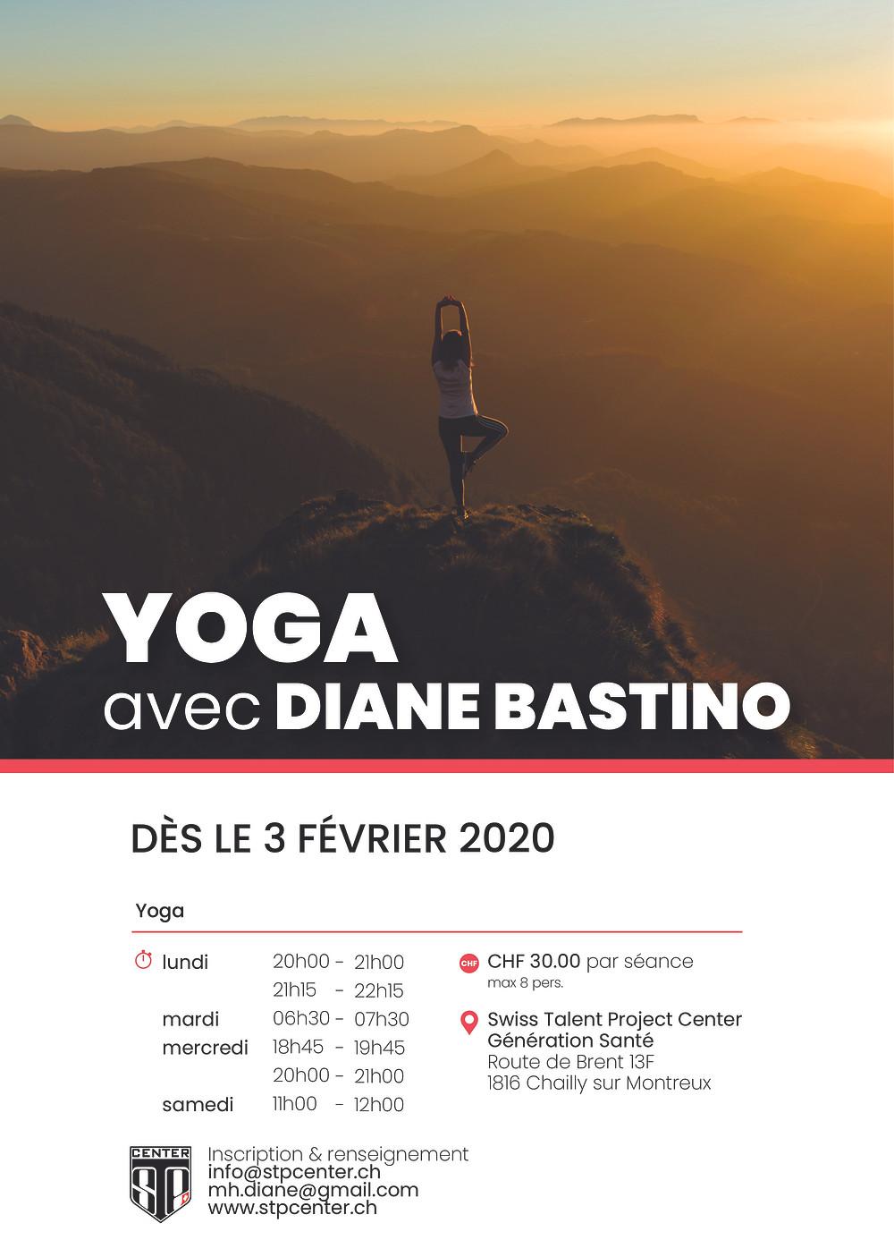 Découvrez le yoga avec Diane Bastino