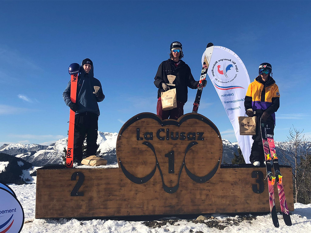Fantin Ciompi prend la 2ème place lors de l'europa cup de slopestyle à La Clusaz