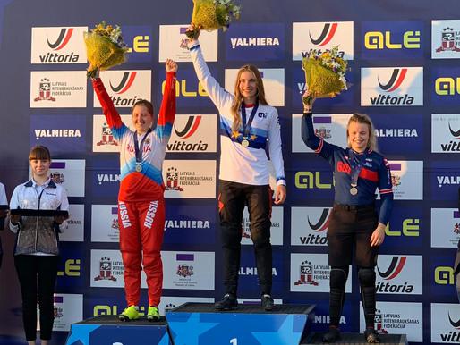 Zoé Claessens championne d'Europe junior à Valmiera / Lettonie