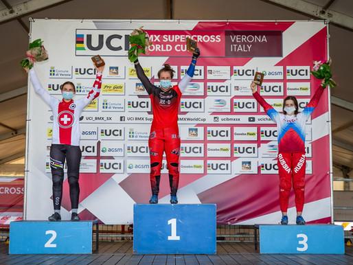 Premier podium élite pour Zoé Claessens