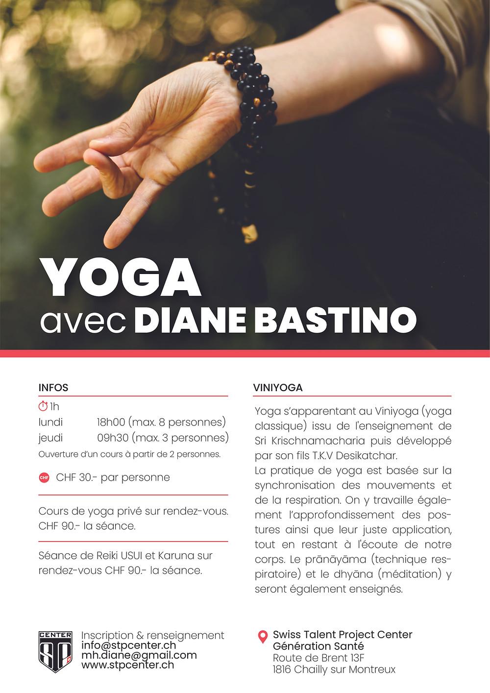 Nos cours de Yoga reprennent dès le 12 octobre au STP Center de Chailly-Montreux