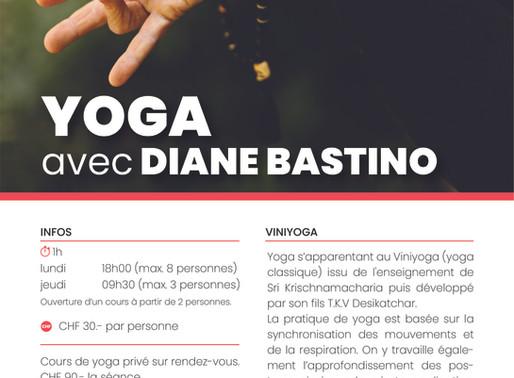 Reprise des cours de Yoga avec Diane Bastino
