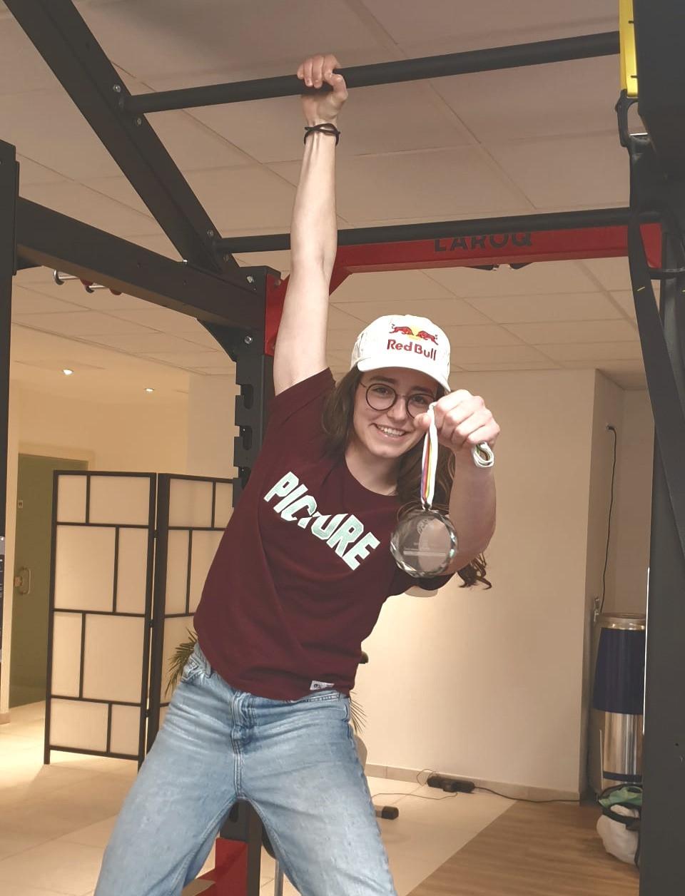 Mathilde Gremaud et sa médaille mondiale