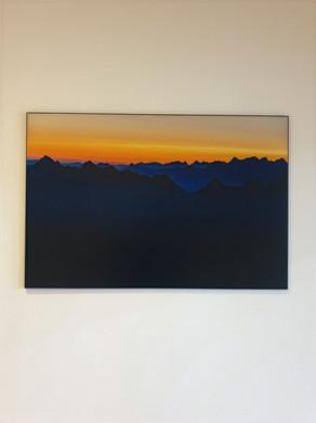 Lever de soleil au sommet du Grammont, vue sur les Préalpes vaudoises