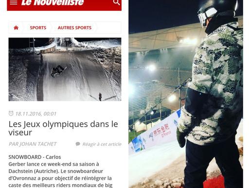 Moritz Thönen & Carlos Gerber de retour sur la neige/zurück auf dem Schnee!