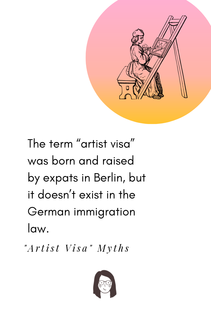 An extract from the blog post about misunderstanding about getting freelance residency permit in Germany