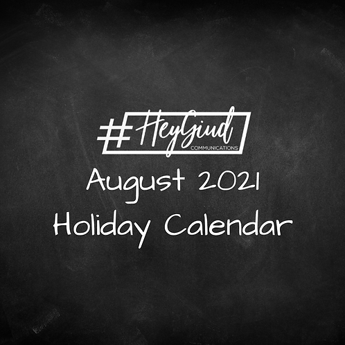 August 2021 Holiday List