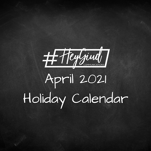 April Holiday List