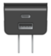 25W High Power Wall Charger  with Type-C & USB-A Ports, Travel Charger