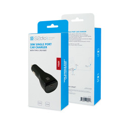 30W Car Charger, Type-C Port PD