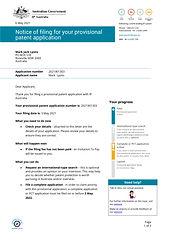 Solar Pergola Provisional Patent Receipt