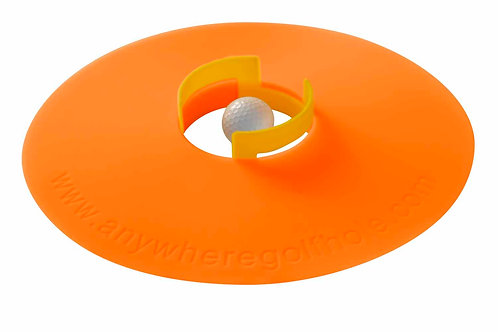 anywheregolfhole in Electric Orange & PutterCups Practice Set