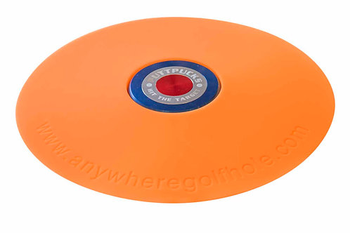 anywheregolfhole in Electric Orange PuttPucks Practice Set