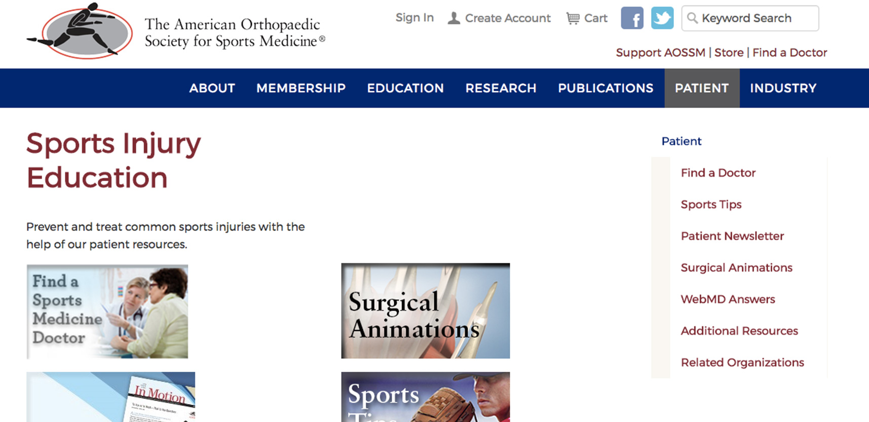 AOS for Sports Medicine