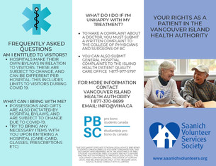 UVic Pro Bono Student's Project: Patient Rights