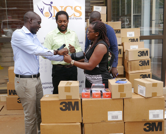 Ugandan National Council of Sports receives injury correction equipment from CORSU