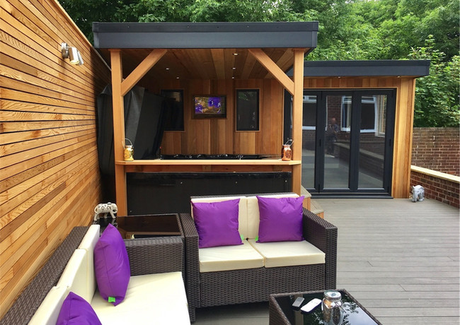 Full garden transformation, Whickham, Newcastle. Our Titanium 2 hot tub was the spa in this project. A beautiful spa that hits a