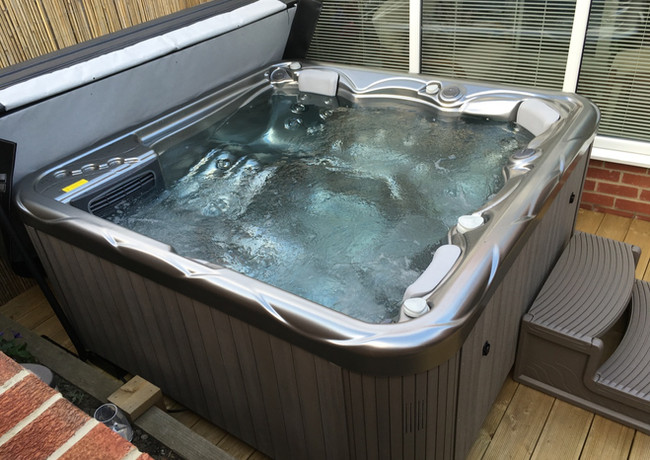 Pluto 5 seater hot tub in Winter Solstice, Chester le Street