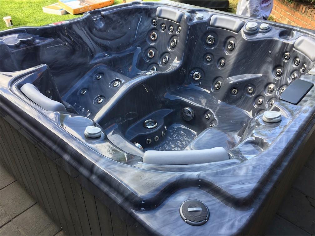 Impressive hot tub
