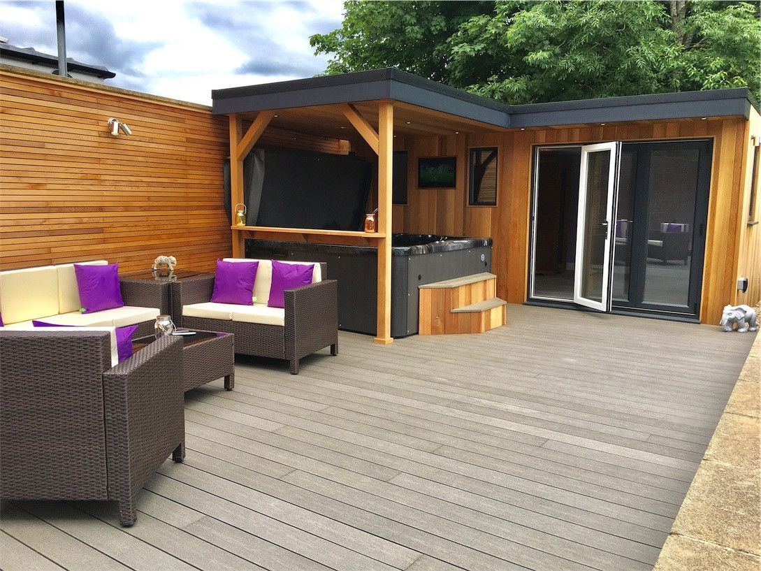Full garden transformation, Whickham, Newcastle. Our Titanium 2 hot tub was the spa in this project.