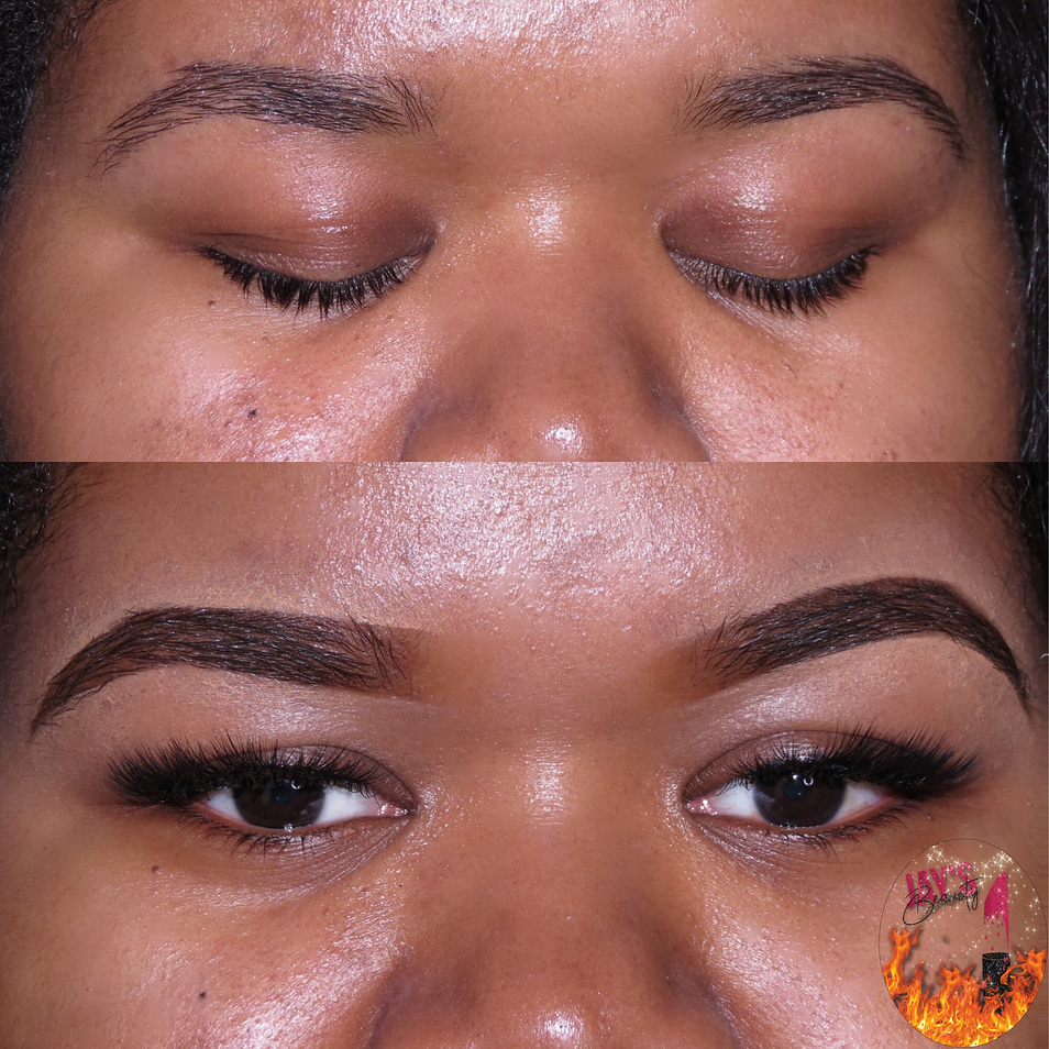 Eyebrow fill-in & Individual Lash Application