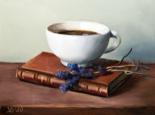 Coffee, Book and Lavender