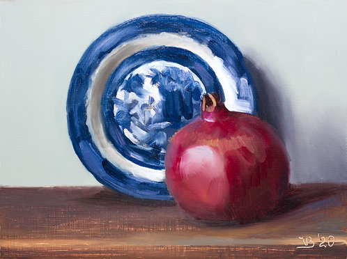 Blue Willow and a Pomegranate
