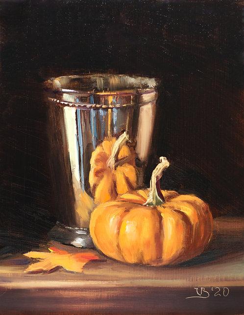 Silver and Pumpkin