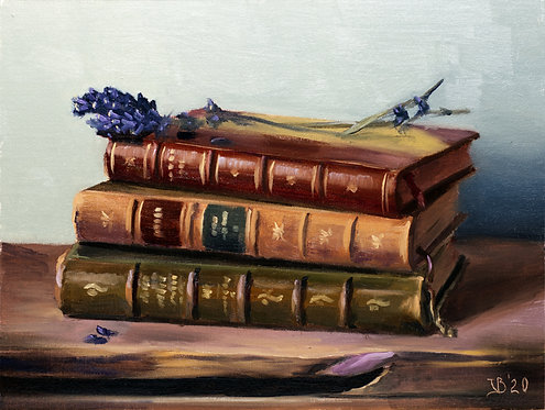 Antique Books and Lavender