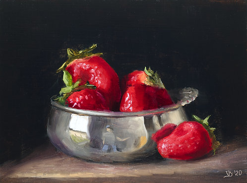 Strawberries in Silver