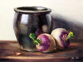 Crock and Two Turnips