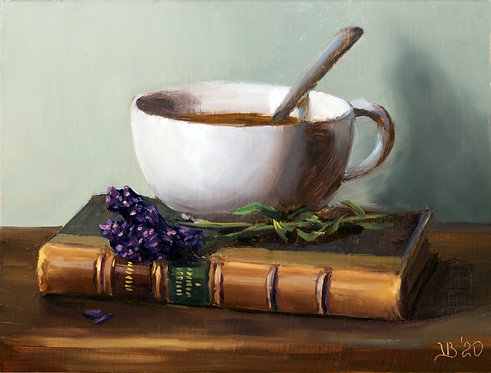 Coffee and Fresh Lavender
