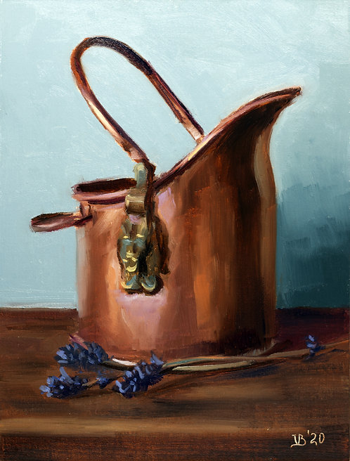 Copper Bucket and Lavender