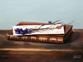 Antique Book, Letter and Lavender