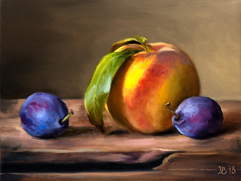 Plums and a Peach
