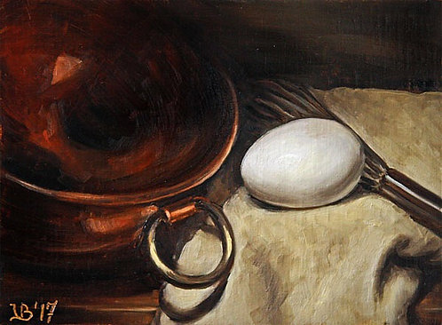 Egg & Copper Bowl