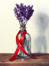 Lavender in a Blue Bottle