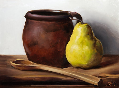 Old Crock and a Pear