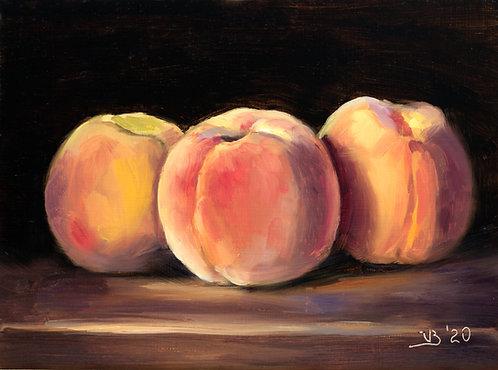Three Local Peaches