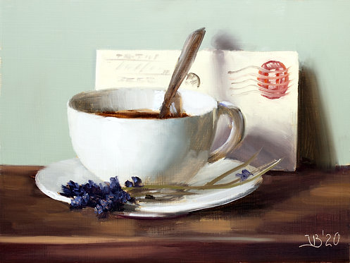 Coffee, Letter and Lavender