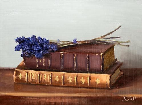 Antique Books and Lavender