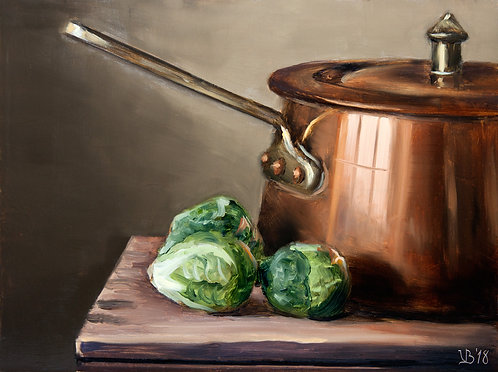 Copper and Brussels Sprouts