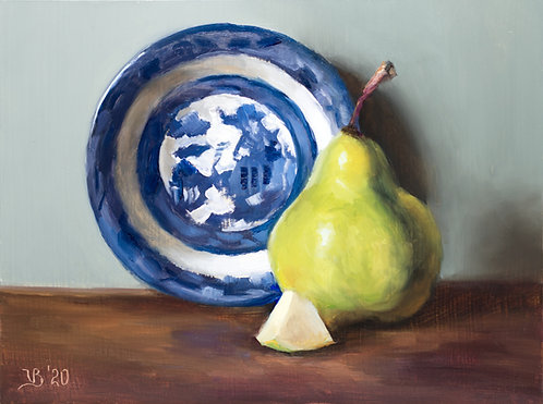Blue Willow and Pear