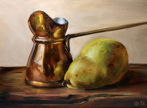 Turkish Coffee Pot with a Pear