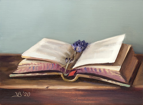 Open Book and Lavender