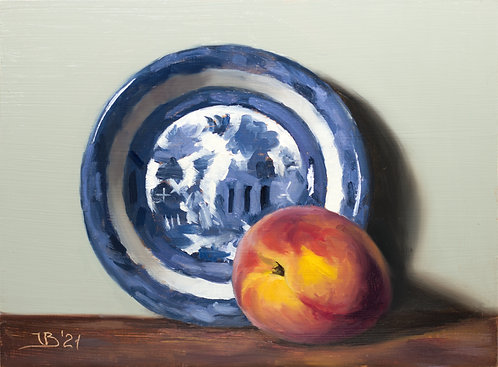 Blue Willow and a Peach