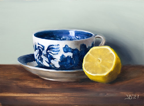 Lemon and Blue Willow