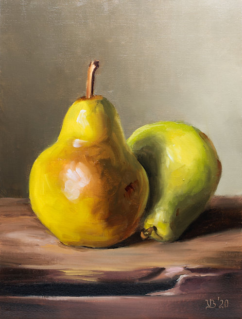 Two Green Pears #2