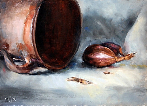 Shallots with a Clay Jar